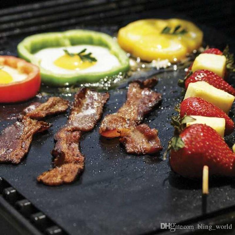 Stuoia di barbecue antiaderente ad alta temperatura Stoviglie barbecue Stoviglie barbecue all'aperto Stuoia barbecue in teflon Dimensioni Circa 40 * 36,5 cm LDH31