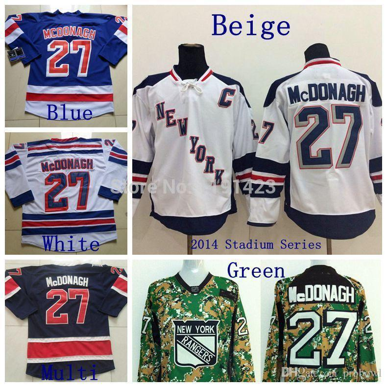 07cd5934290 shopping 2018 cheap mens new york rangers hockey jerseys 27 ryan mcdonagh  jersey home blue road