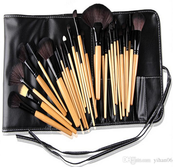 50 unids Profesional es Pinceles de Maquillaje 32 unids set Pinceles herramientas de cepillo Cosmético completo portátil Fundación Sombra de Ojos kits de cepillo de Labios conjunto de herramientas