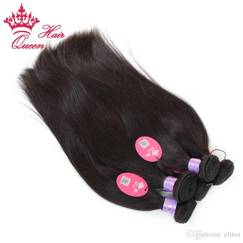 Reine Cheveux Produits Malaisienne Vierge Armure de Cheveux Humains Droite Vierge Extension De Cheveux 1B Peut Teindre Livraison Gratuite