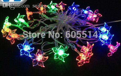 wholesale seven neon110v220v chinese redbud shape 4m 20leds partychristmasdecorationholiday led string light string lights wholesale light string tree