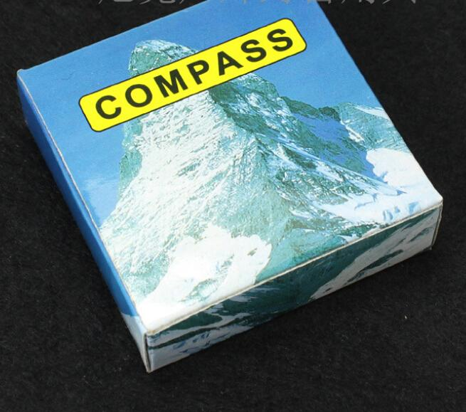 Messing Taschenuhr Stil Camping Compass Wandern Kompass Navigation Outdoor-Tool Zart Leuchtende Kompass mit Retail-Verpackung