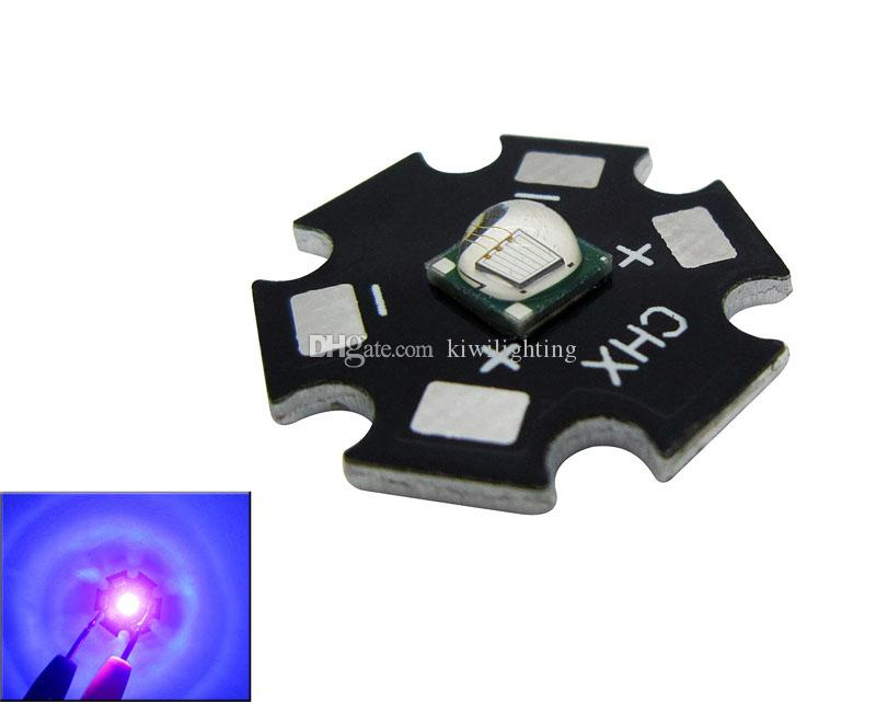 Epileds 8 Вт 5050 Фиолетовый УФ 395-400 нм Светодиодный чип свет 3,4-3,8 В 2-2,6 А 16 мм / 20 мм черный / белый PCB 50 шт. / Лот
