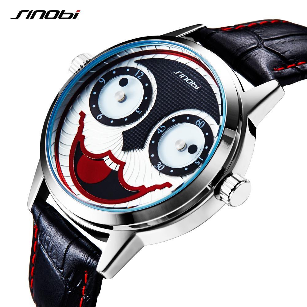 sinobi creative watch for boys halloween clown joker watches 2017 new arrival relogio masculino quartz watch men sale watch online watches for sale from