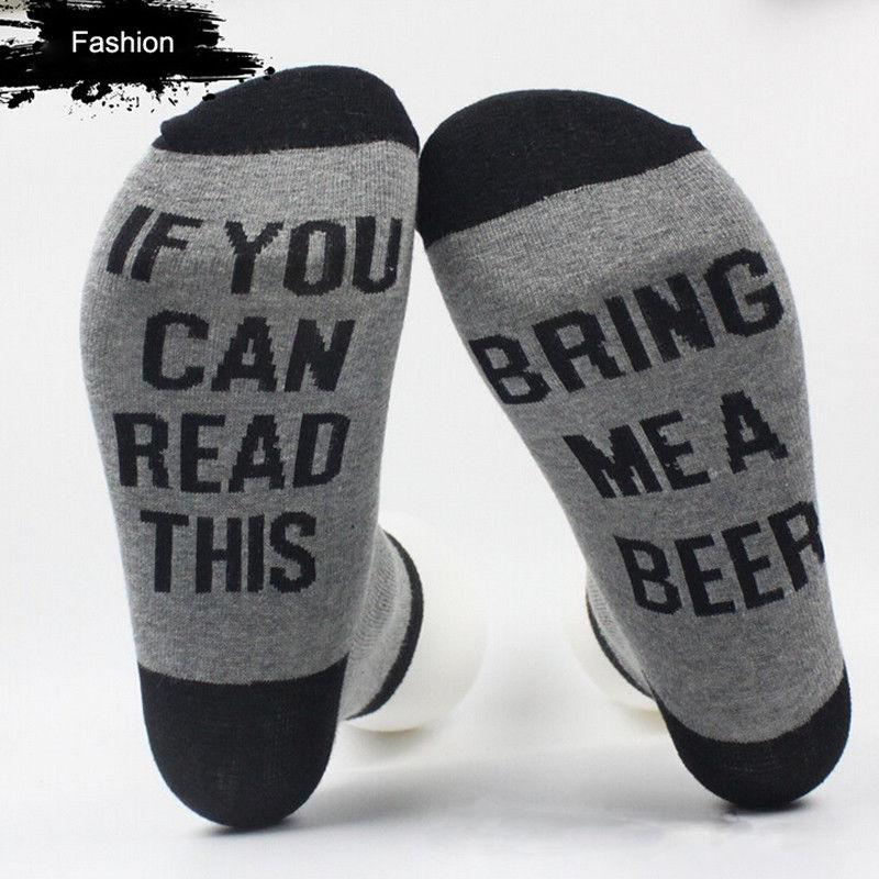 Wholesale- Hot Women Men Letter Printed Socks If You Can Read This Bring Me A Glass Of Wine Unisex Socks Funny Novelty Vintage Retro Socks