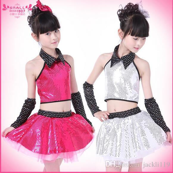 5a2acdd6a ... Dance Costumes Sequins Jazz Dance Costume Dancewear Modern Dance  Performance Wear Childrenu0027S Day Stage Wear Hkx001 From Jackli119 ... Sc  1 St ...