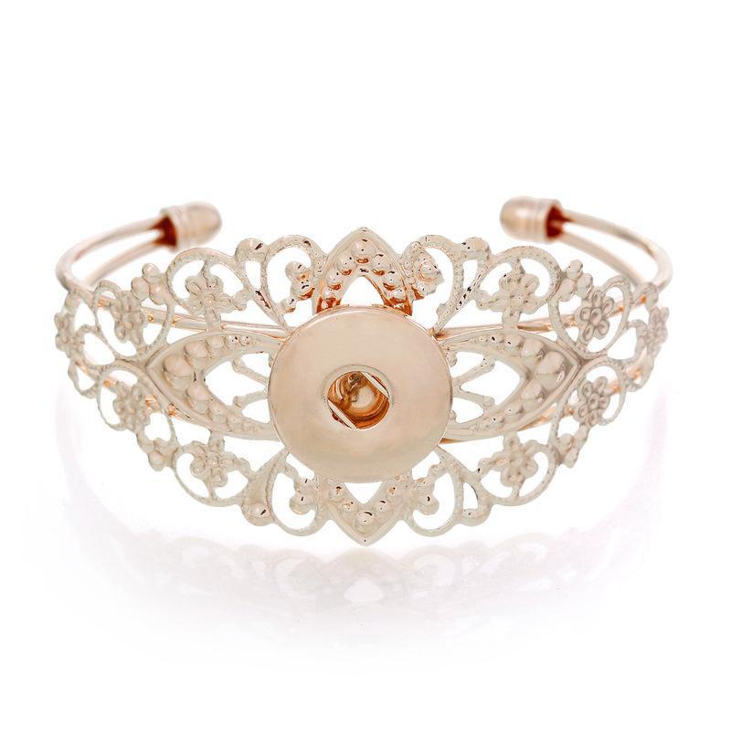Noosa Metal Snap Button Charm Bracciale fai da te braccialetto gioielli intercambiabili Ginger Snaps Jewelry Noosa Snap Button Bracciali modelli assortiti