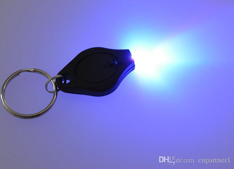 DHL 미니 토치 키 체인 링 열쇠 고리 화이트 LED 조명, UV 조명, LED 전구, 톤 II 광자 2 마이크로 빛 LED 키 체인 손전등 미니 라이트