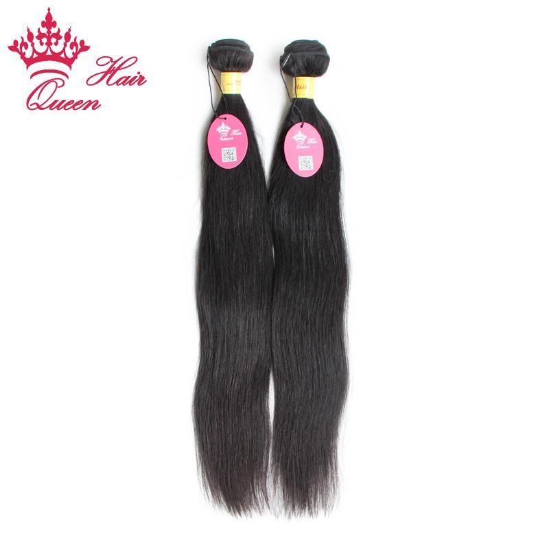 Queen Hair Hot Selling Obehandlat Peruvian Virgin Mänsklig Hår Straight 4 st / Peruvian Virgin Hair Weaves Tjock Bundle Soft