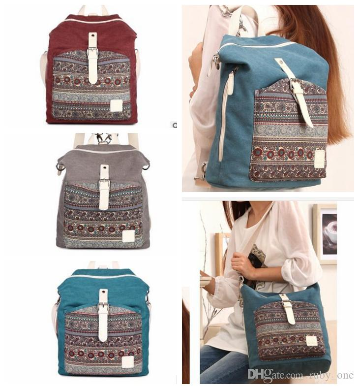 486eb8bebfe2 Canvasartisan Women Canvas Backpack Bookbag Female Dual Purpose Shoulder  Bag Daily Travel Backpacks Crossbody Bags KKA3214 Dakine Backpacks Back Pack  From ...