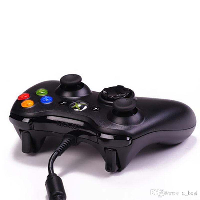 Para microsoft xbox 360 usb controlador do jogo com fio gamepad camuflagem de ouro jogo joystick pad duplo controlador de choque 2017 novo