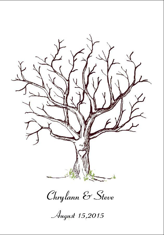 Canvas Wedding Fingerprint Tree Guest Book Alternative Love Birds Wedding  Decoration Bridal Shower Baby Shower Party Supplies