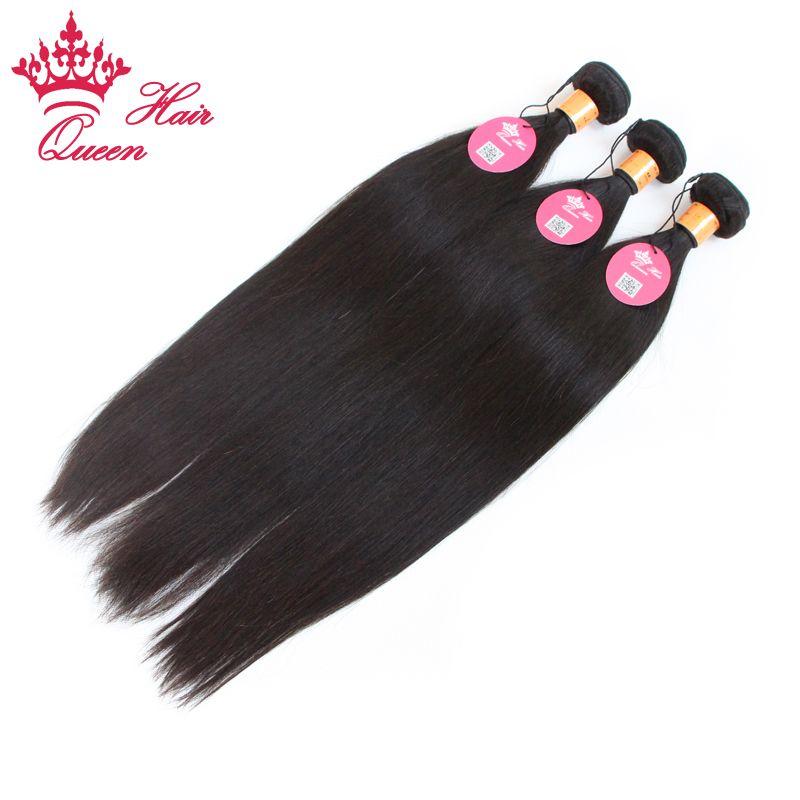 Extensiones de la Virgen Indain de la Virgen del pelo, 100% pelo humano Armadura recta del pelo de la reina, / 12-28inch