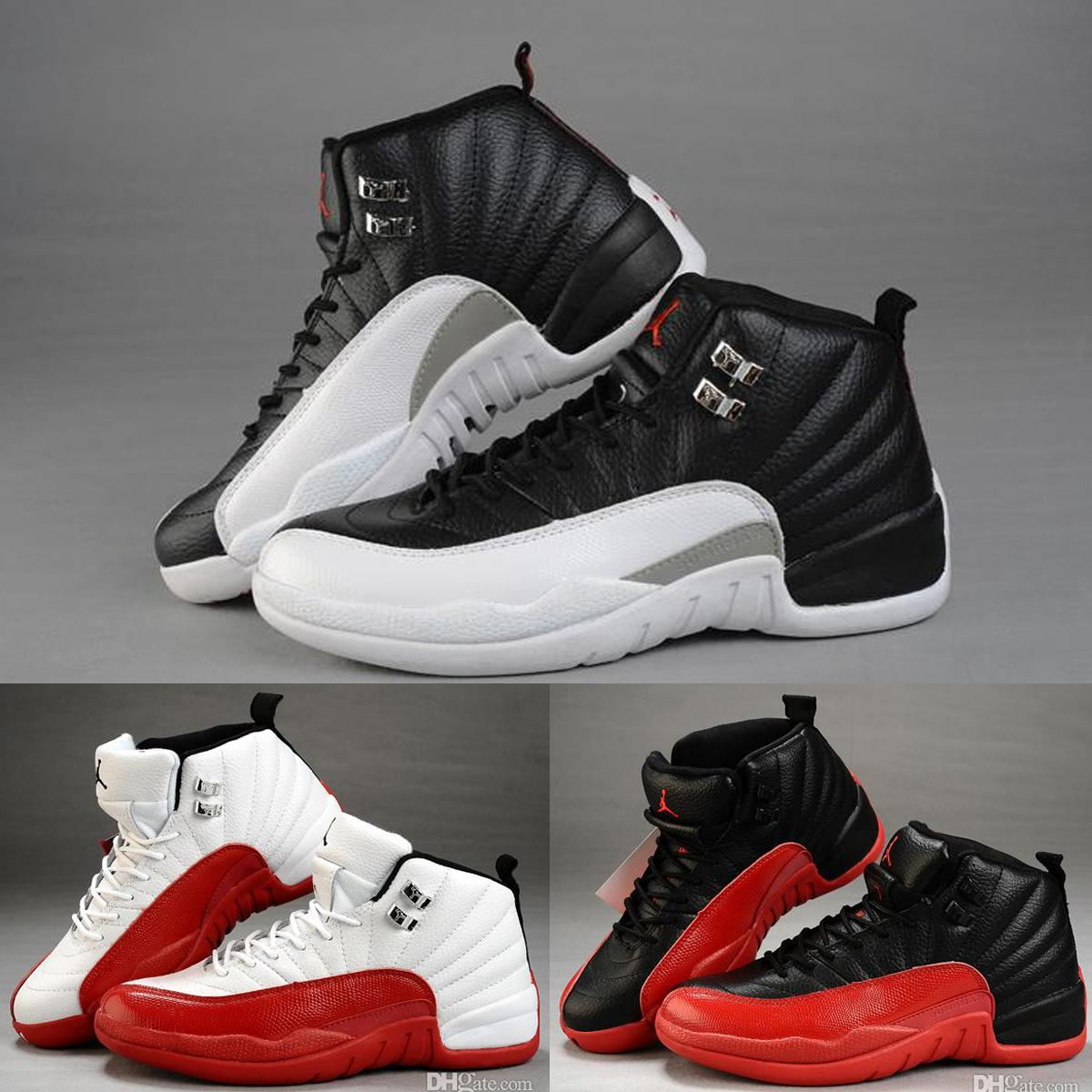 f87664eb14f99b Nike Air Jordan 12 Xii Taxi Playoff Black Flu Game Cherry Mens Womens  Basketball Shoes