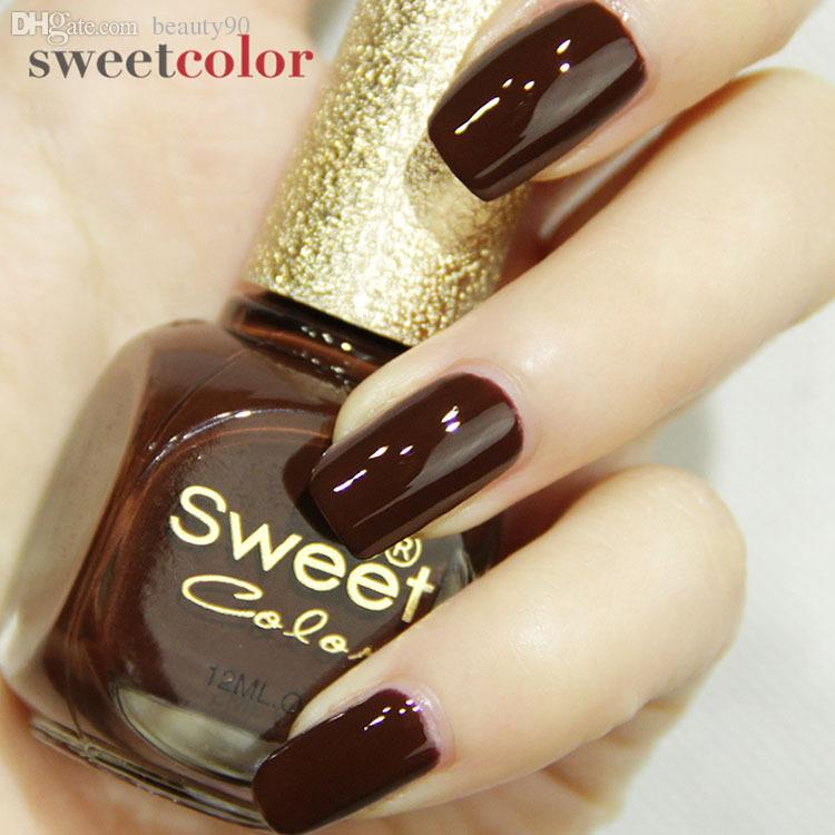 Brands Nontoxic Fashion Chocolate Color Nails Varnish Quick Dry Gel ...