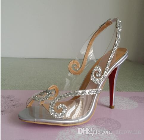 Image réelle chaussures de mariage pour la mariée sexy