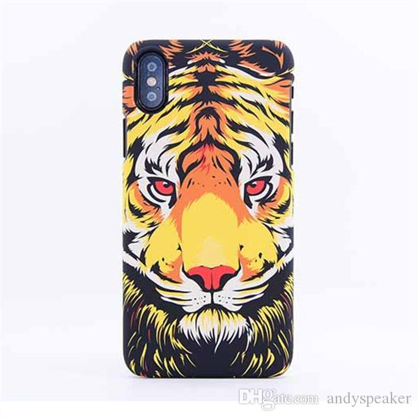For iPhone X Luminous Animal Pattern Case LUXO King Design PC Hard Protective Cover 100pcs/up