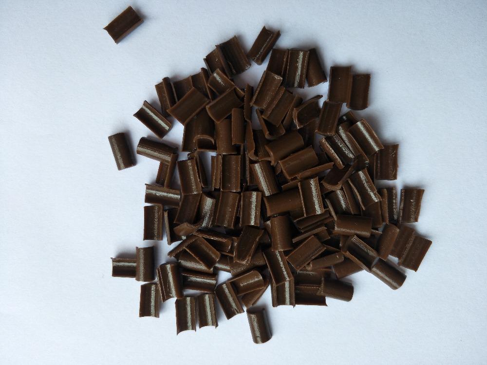 Keratin-Kleber-Nagel Nagel-Spitze Keratin U-Form Kleber-Nagel-Spitze / für die Fusionshaarverlängerung freie braune schwarze Farbe des Gelbs 4