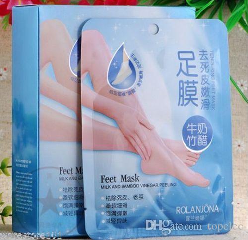 100%安全ペア剥離フットマスクソフトフィート硬い死んだ肌乾燥皮膚トリートメントを取り除く2ピース= 1ペア在庫あり