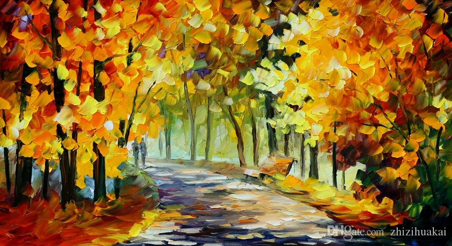 Envío Gratis Venta Caliente Moderna Pintura de Pared Home Art Decorativo Imagen Pintura Lienzo Impresiones pintura en color Lámpara de Calle Amantes Una noche lluviosa
