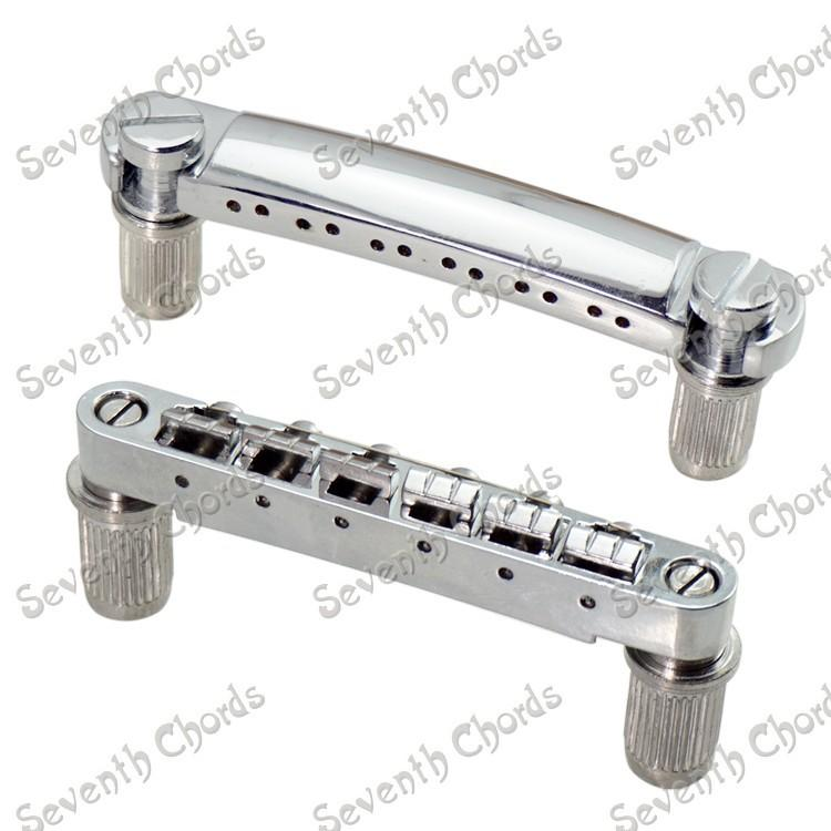 2019 a set chrome 12 string saddle tune o matic bridge tailpiece for electric guitar with. Black Bedroom Furniture Sets. Home Design Ideas