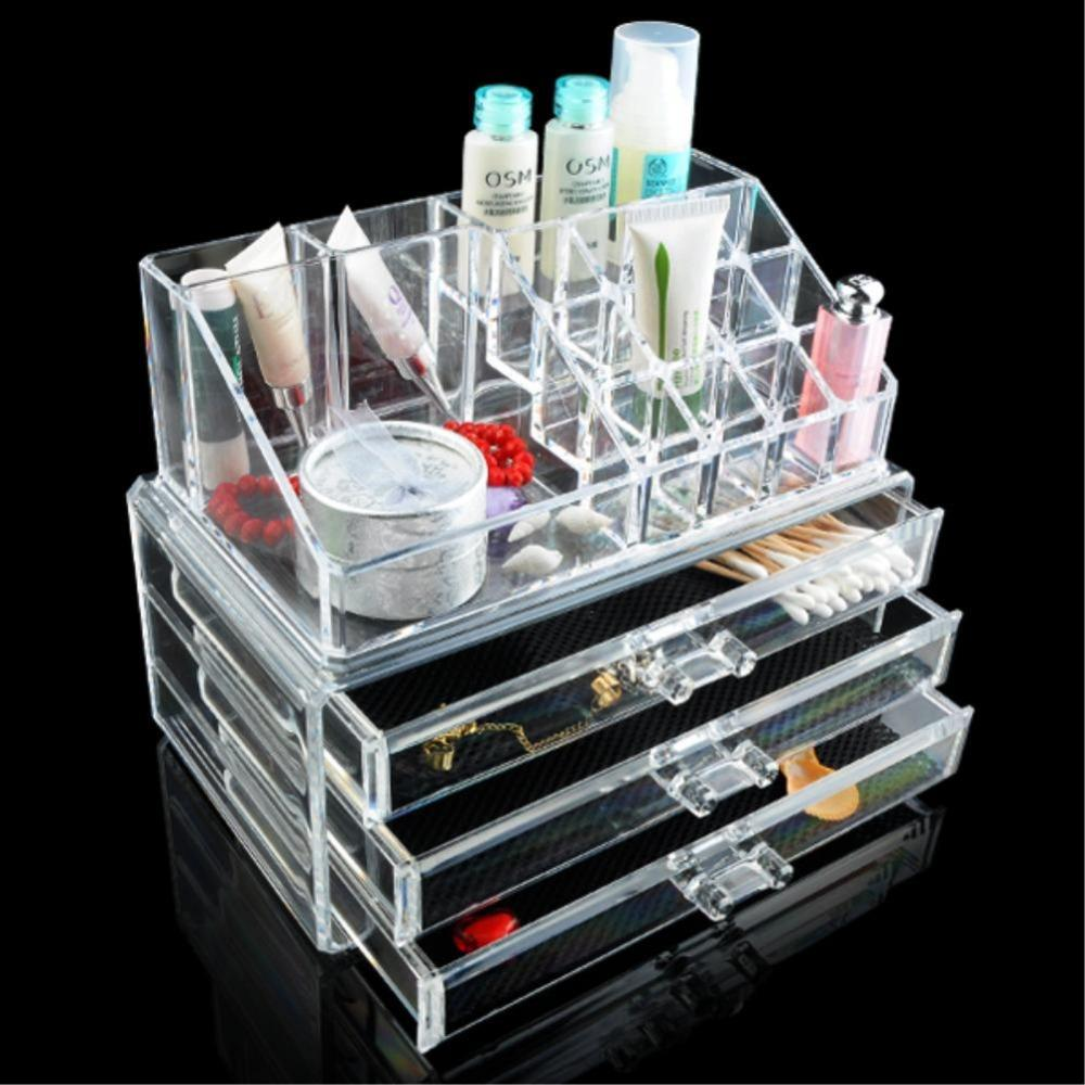 Best Drawers Lipstick Holder Cosmetic Organizer Case Makeup - Acrylic makeup organizer
