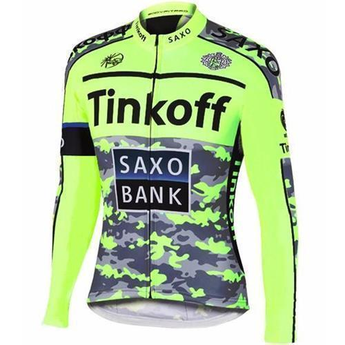 Winter Thermal Fleece Cycling Long Jersey Tinkoff Saxo 2015 Ropa ... 432d18dc4