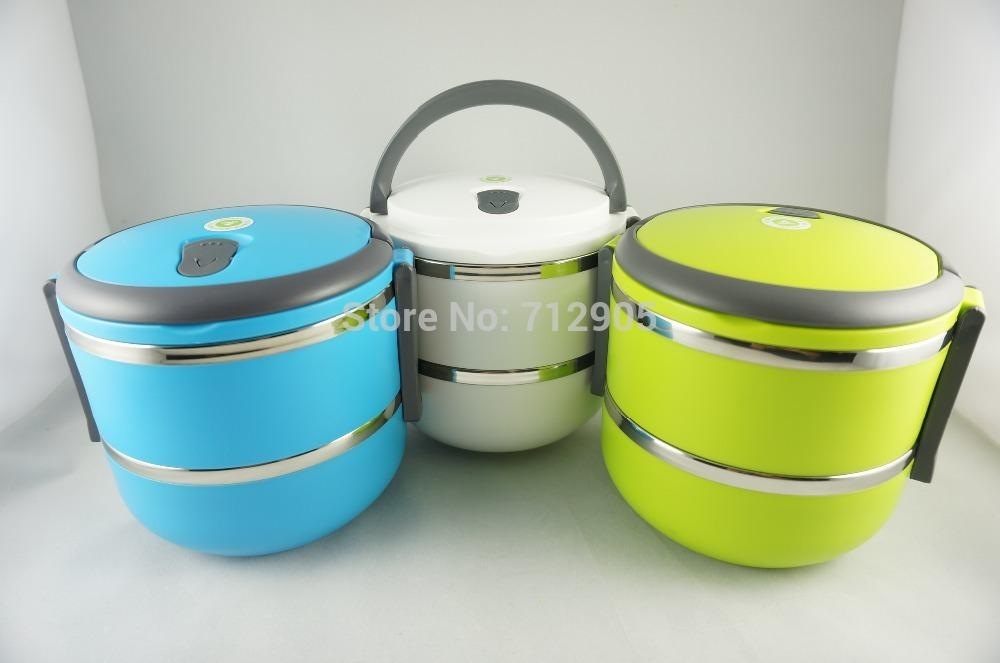 2018 2 layer stainless steel thermos lunch box thermal food container japanese bento box food. Black Bedroom Furniture Sets. Home Design Ideas