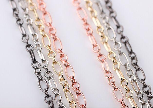 Großhandel 10 Teile / los Mix Farben DIY Legierung Schwimm Halskette Kette Fit Für Glass Living Charms Medaillon Anhänger