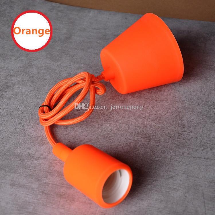 MJJC Modern Vivid Colorful E27 Silicone Ceiling Lamp Holder Light Socket 1M Length Cord For Home DIY Hanging Pendant Lighting 85-265V
