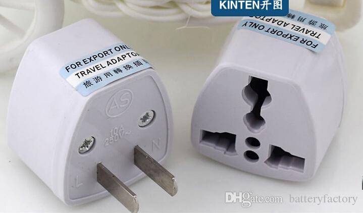 Caricabatterie da viaggio di alta qualità Alimentazione elettrica CA UK / AU / EU Ad US Plug Adapter Converter USA Connettore di alimentazione universale Adattatore Adaptador bianco