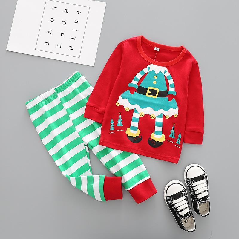 Children Pajamas Set Sleepwear Pyjamas Kids Boys Christmas underwear Suit Baby Girls Pajamas Cotton Nightgown Nightwear