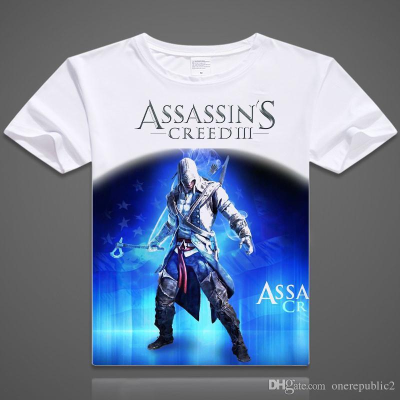 d4d6722e 2015Free Shipping Hot Game Assassin's Creed T Shirt Logo Print Assassins  Creed T-shirt Mens Game Tshirt Funny Cool Print Top TeesZ00090