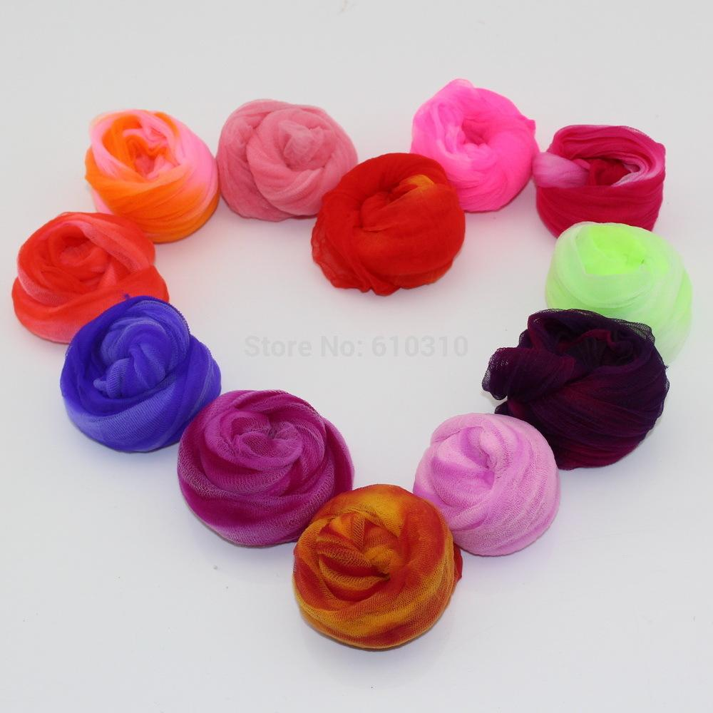 Wholesale Multicolor Crystal Mesh Flower Stocking Diy Butterfly