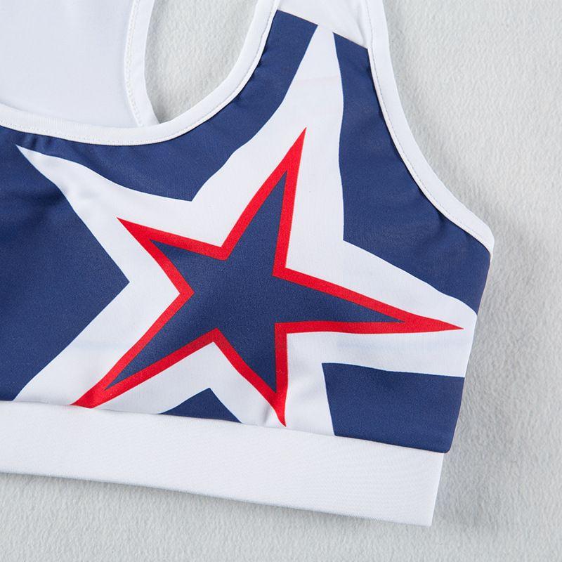 Ambeauty Stars Print Leggings Womens Sports Workout Tights Gym Wear 90% Spandex 10% Nylon Running Yoga Pants And Bras