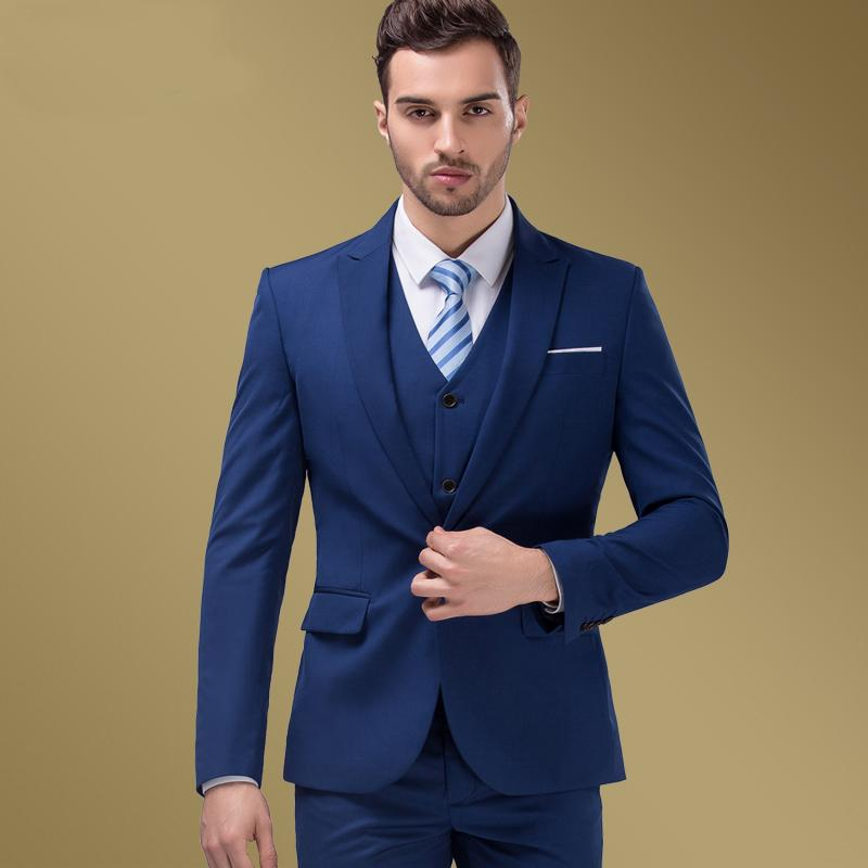 Discount Mens Wedding Dress Slim Suit Commercial Men'S Clothing ...