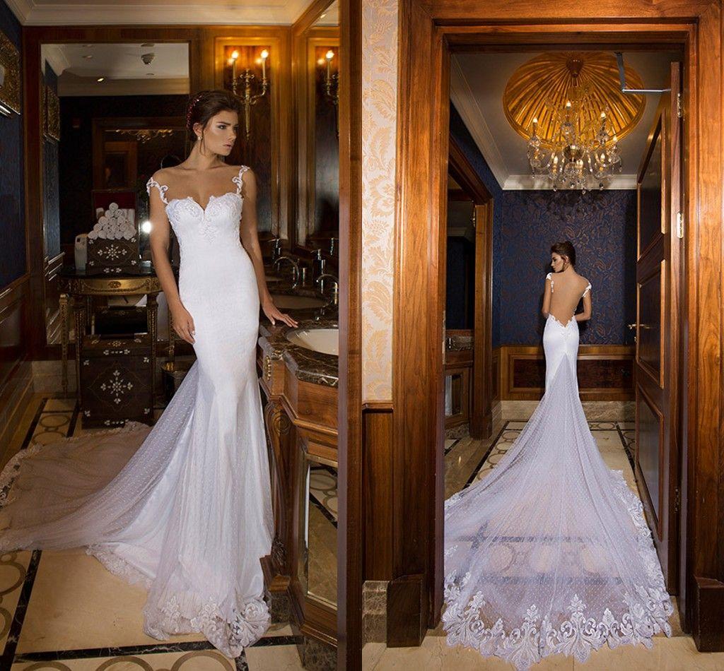 Dimitrius dalia mermaid wedding dresses 2015 spring for Mermaid wedding dress with long train