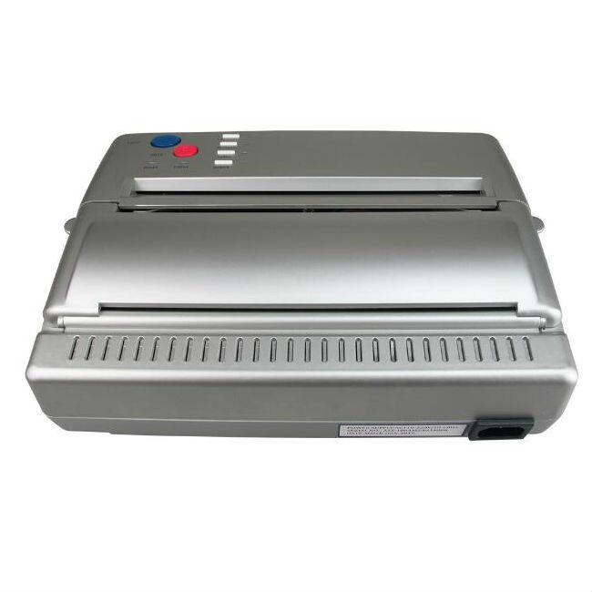 الوشم نقل آلة طابعة الرسم الحرارية الاستنسل ورقة ناسخة لورق الوشم نقل اللون الأسود والفضي للمحترفين