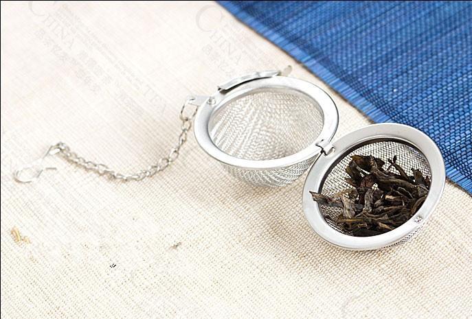 Esfera do filtro do chá bola de aço inoxidável infusor de chá infusor de chá de chá de 5cm
