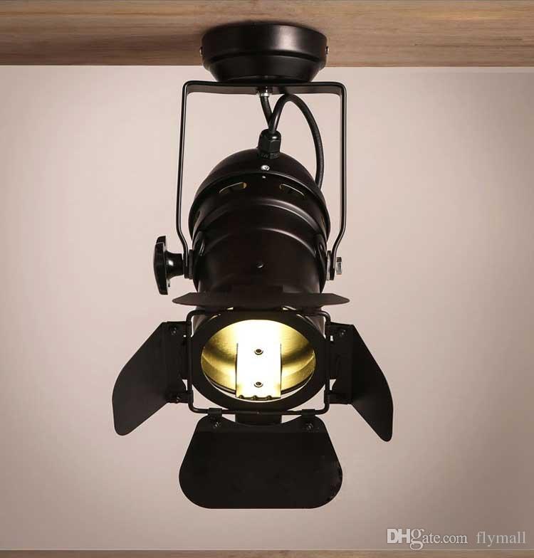 Lámpara Vintage LOFT Arts Lámpara Retro Pista Luz Espacio Moderno Minimalista País Punto industrial Luz Tienda de ropa Foco Luz de techo