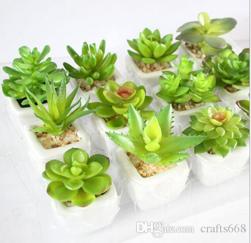 12 قطعة / الحزمة ربيع الخريف سلسلة بونساي أواني الزهور المزارعون النباتات الخضراء مصغرة الأواني الخزفية إناء الزهور