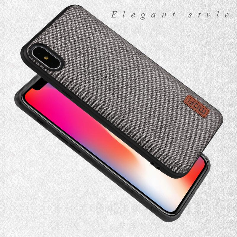 low priced 2066a 11934 Mofi Case For Iphonex Case Cover Silicone Edge Shockproof Men Business For  Apple X Iphone X Back Cover For Iphonex Iphone X Case