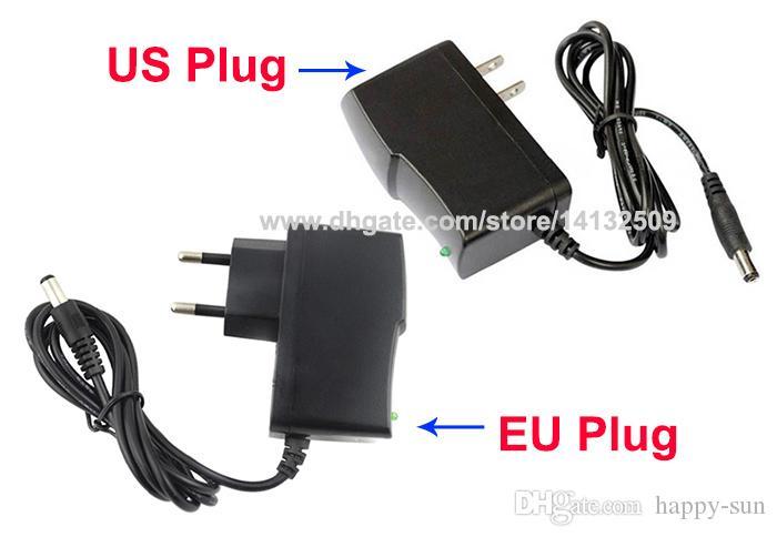 High Quality AC 100V~240V to DC Power supply 12V 1A adapter adaptor US / EU -EU Plug DHL