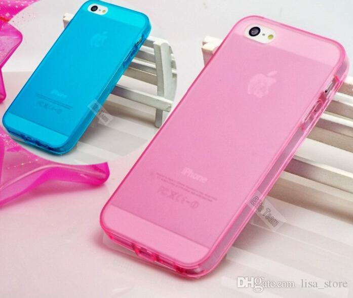 Mobil iPhone5 Shell 10colors Cep Telefonu Kılıfları 1PC Drop Shipping iPhone 5 5S Case Pretty Kapak Silikon Yumuşak Kılıf