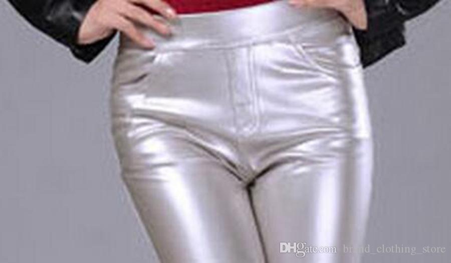 Dames Han Edition Counters Authentieke nieuwe Winter vrijetijdsmaak tonen dunne taille om warm te blijven in de strakke fluwelen potlood lederen broek. S-2XL