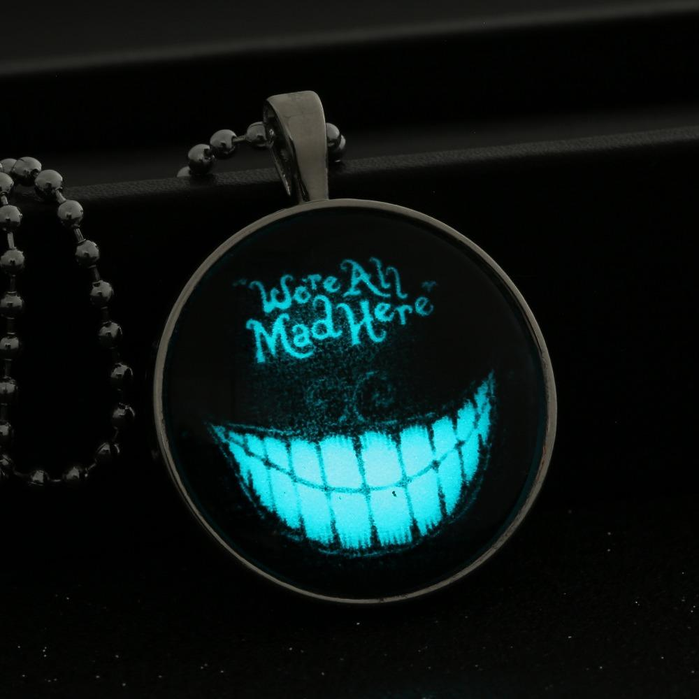heart pendant different glowing locket round fashion product the necklace trendbaron styles jewelry glow dark com in chain