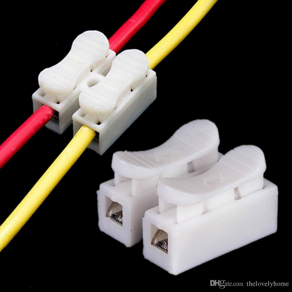 2018 2 Pins Electrical Cable Connectors Ch2 Quick Splice Lock Wire ...