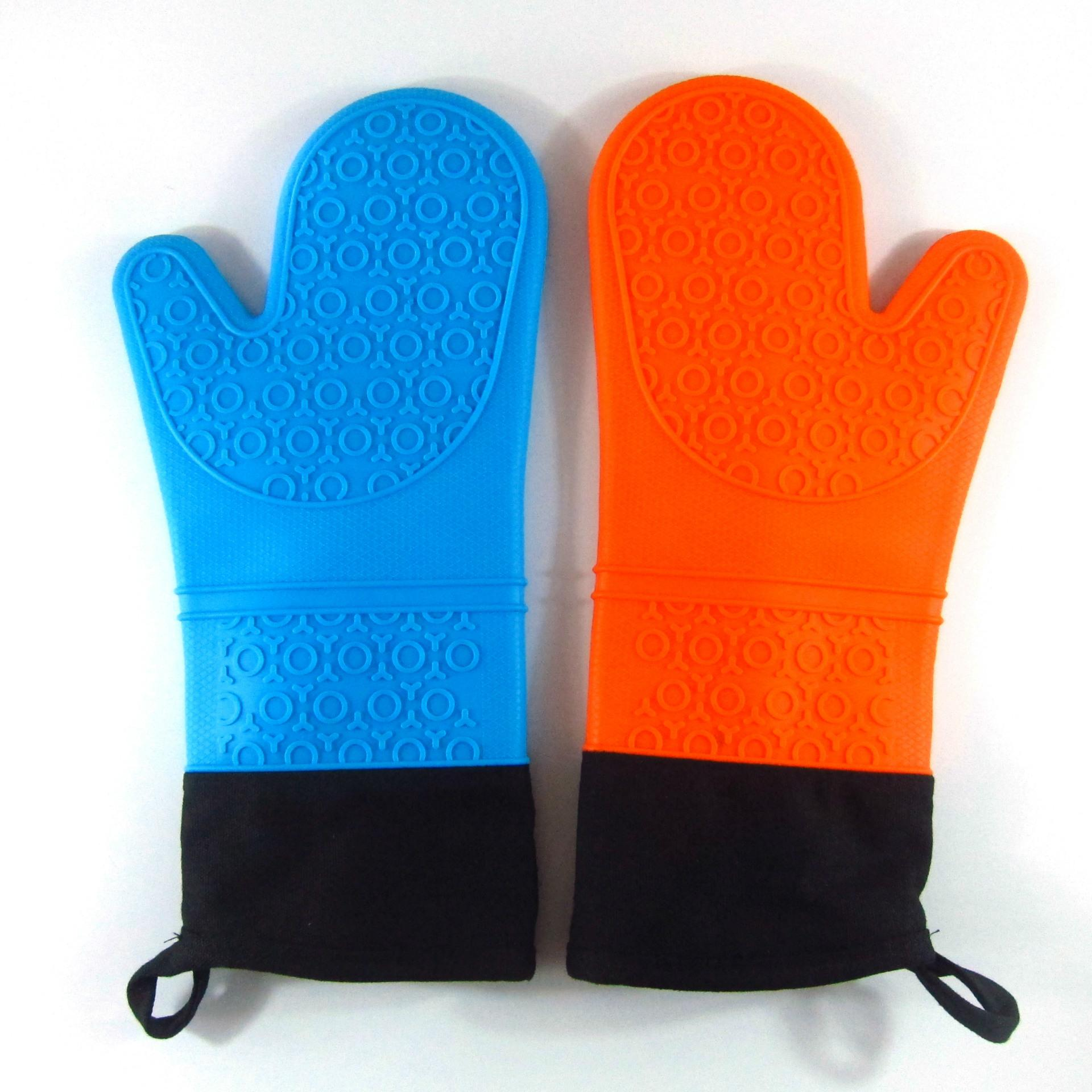 2017 Kitchen Silicon Mittens Oven Gloves Heat Resistant Home ...