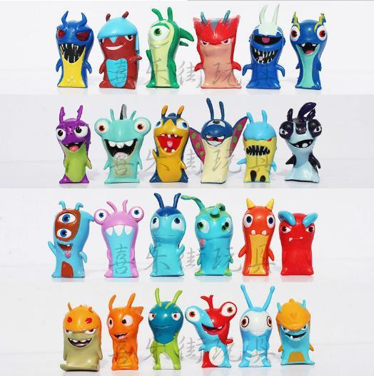 2015hot sale kids toys Slugterra PVC cartoon Action Figures kids toy figure Gifts Christmas gift 24 pieces/set free shipping