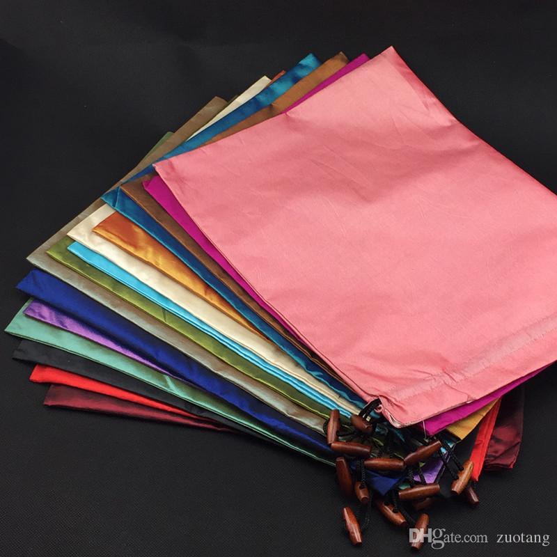 ファイン刺繍の大きな巾着収納袋ブラの下着ランジェリートラベルバッグハイエンドサテンの布のダストバッグ保護カバー卸売